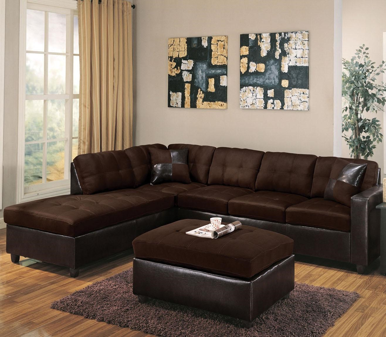Acme Furniture Milano Chocolate2 Piece Sectional Sofa W/ RAF Chaise