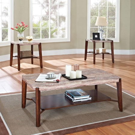 3-Piece Occasional Set with Coffee/End Tabl