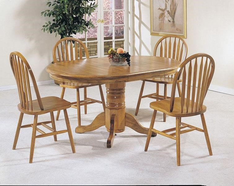 Acme Furniture Nostalgia 5-Piece Casual Dining Pedestal Table and ...