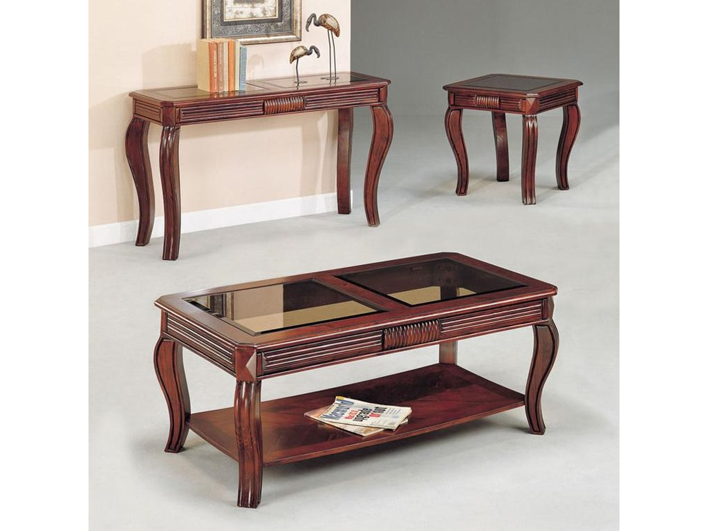 Acme Furniture Overture3 Piece C E Table Set W Gl