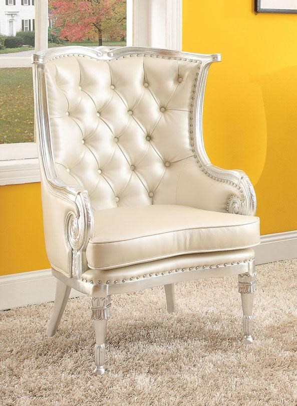Acme Furniture Pawnee Neo Classical Upholstered Accent Chair Dream