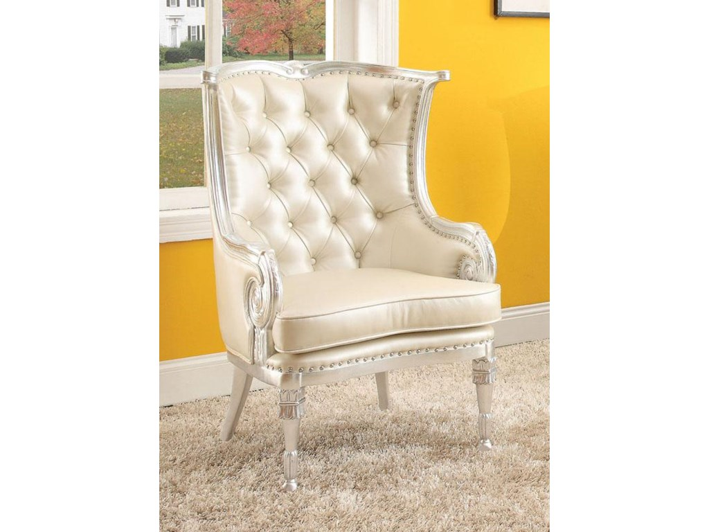 Acme Furniture Pawnee 59122 Neo Classical Upholstered Accent Chair
