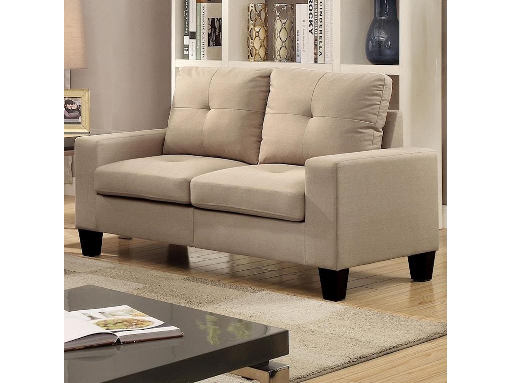 Acme Furniture Platinum II 52741LOV Casual Tufted Loveseat | Del Sol ...