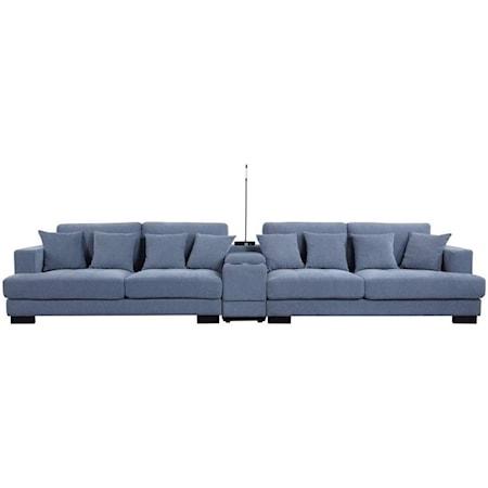 Sectional Sofa w/Pillows