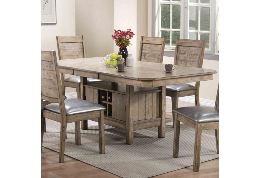 Acme Furniture Ramona 72000 Rustic Dining Table With