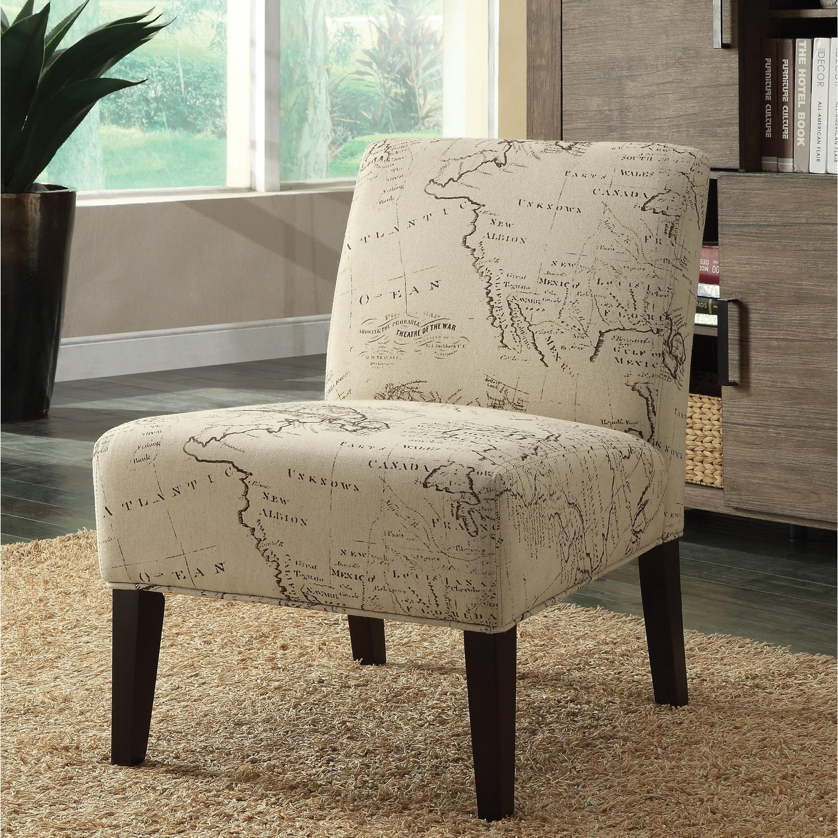 Transitional Accent Chair with Espresso Legs
