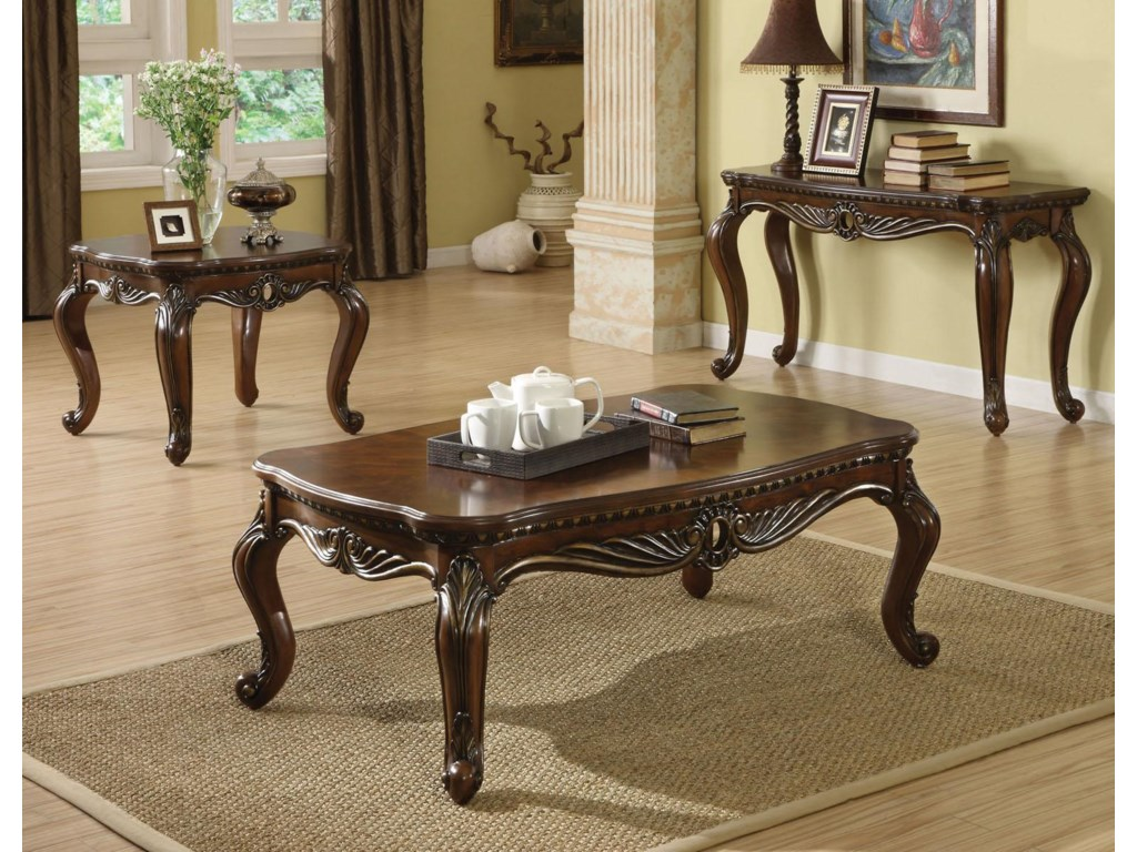 Cherry Coffee Table.Remington Traditional Brown Cherry Coffee Table By Acme Furniture At Furniture Superstore Nm