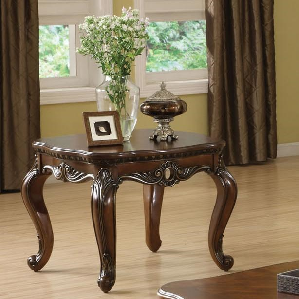 Acme Furniture Remington Traditional Brown Cherry End Table   Household  Furniture   End Tables