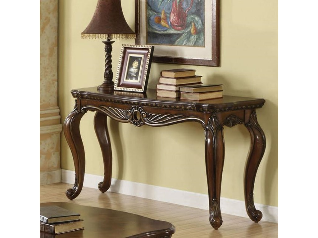 Acme Furniture Remingtonbrown Cherry Sofa Table