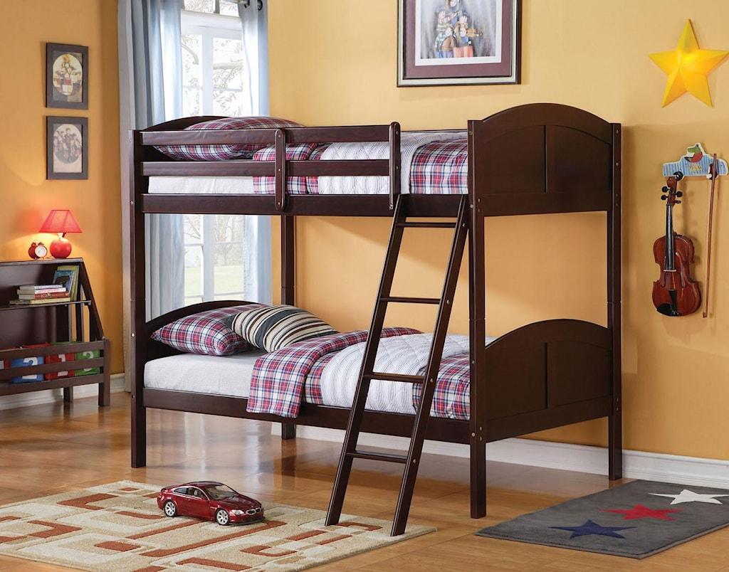 Acme Furniture Toshi 37010 Espresso Twin Bunk Bed Nassau Furniture