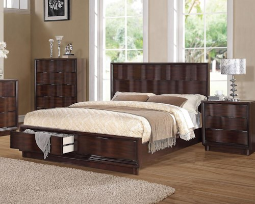 Acme Furniture Travell California King Low Profile Bed