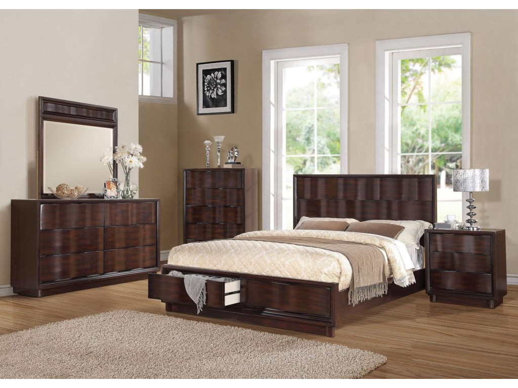 Shown with Mirror, Dresser, Bed, and Nightstand