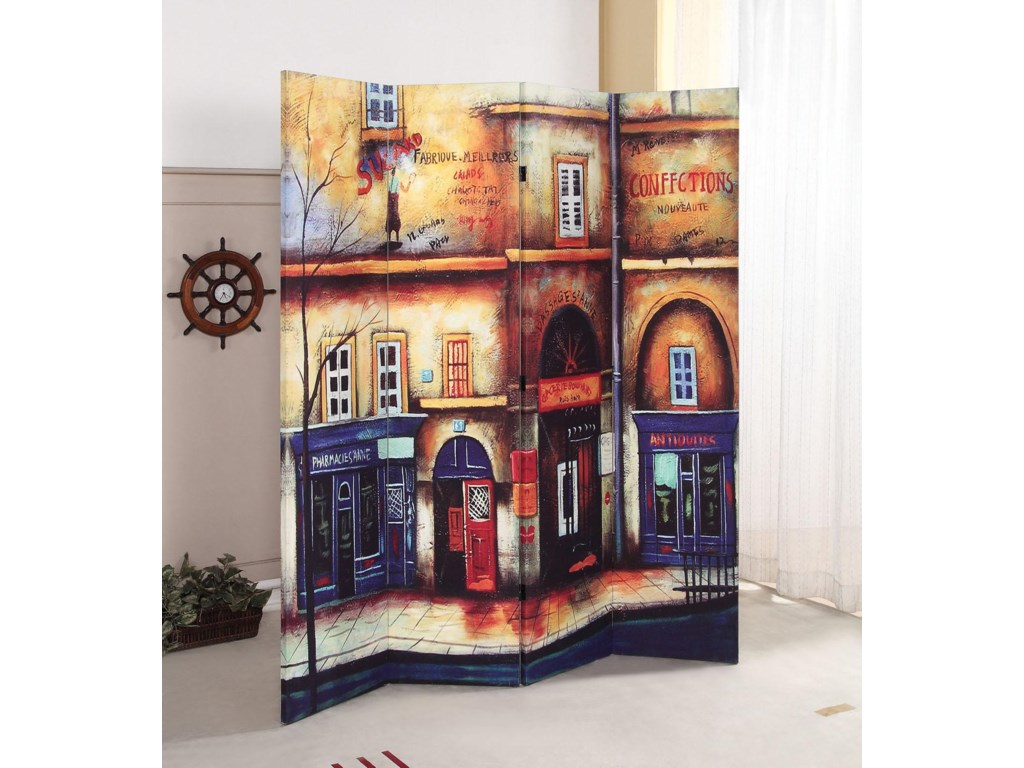 Acme Furniture Trudyscenery 4 Panel Wooden Screen