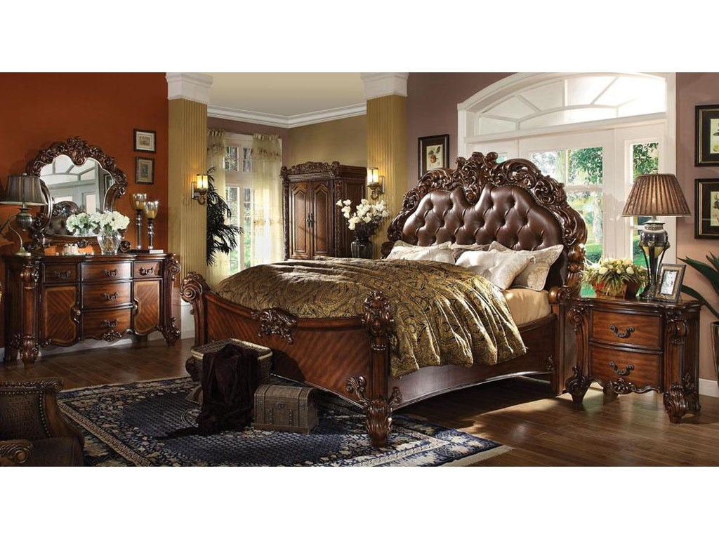 Acme Furniture Vendome 22004 Dresser Mirror With Curved Frame And