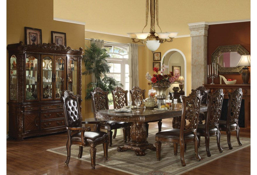 Vendome Traditional Dining Table and Chair Set by Acme Furniture at Dream  Home Interiors