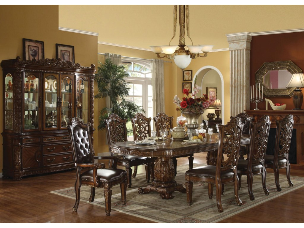 Shown with Table and Dining Arm & Side Chairs