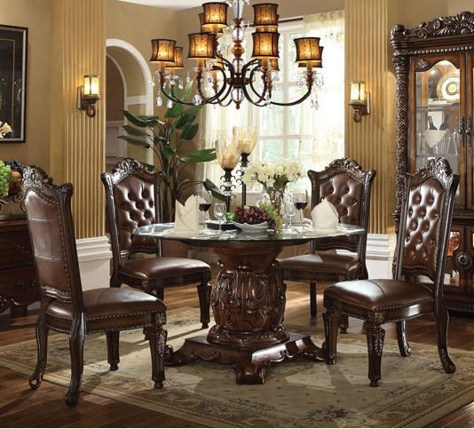 Acme Furniture Vendome5 Piece Table And Chairs Set ...