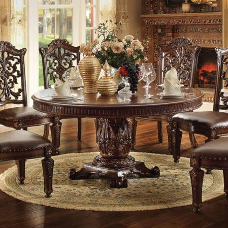 Acme Furniture Vendome 62020 72 inch Round Single Pedestal Dining ...