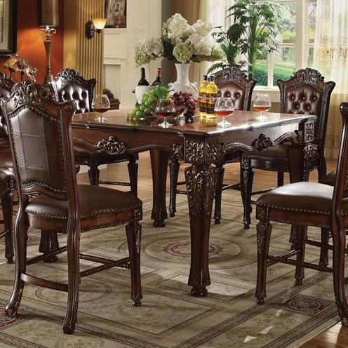 acme furniture vendome 62025 counter height dining table with carved rh delsolfurniture com Acme Dining Room Table acme coronado dining room furniture