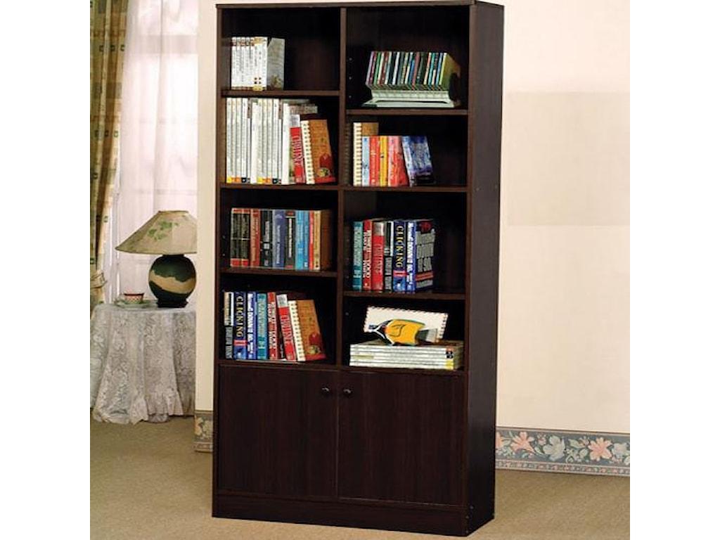 Acme Furniture Verden 12102 Verden Book Shelf Cabinet With 8 Shelves