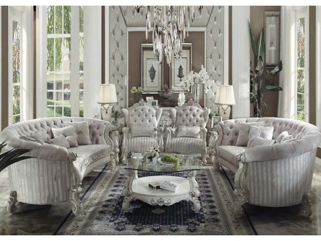 Versailles Traditional French Provincial Living Room Group 1 Ivory by Acme  Furniture at Dream Home Furniture