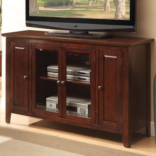 Acme Furniture Vida TV Stand with 4 Doors and 2 Shelves