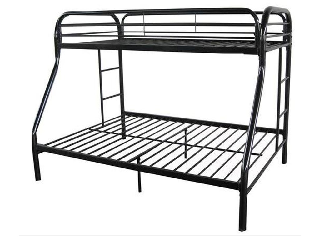Acme Furniture Youth Bunk Beds 02053bk Contemporary Twin Full Bunk