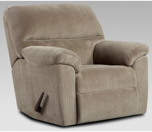 Affordable Furniture 2450 Casual Recliner with Pillow Top Arms