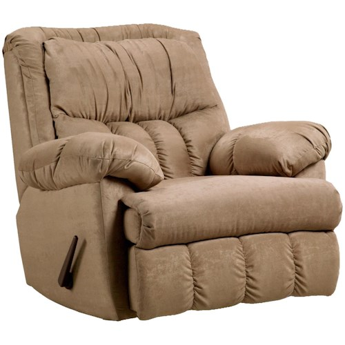 Affordable Furniture Sensations Casual Rocker Recliner for Family Rooms and Living Rooms