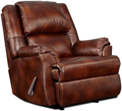 Affordable Furniture 2600 Handle-Operated Imitation Leather Recliner