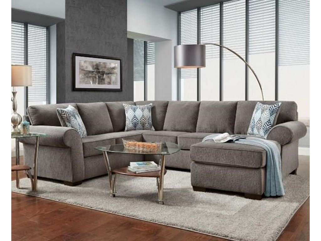 Affordable Furniture 3050 Charisma SmokeSectional