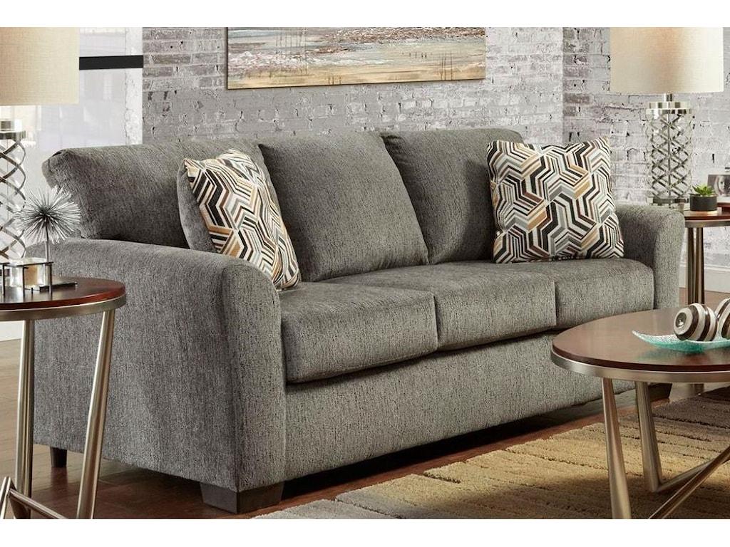 Affordable Furniture 3330 Allure GreyStationary Sofa