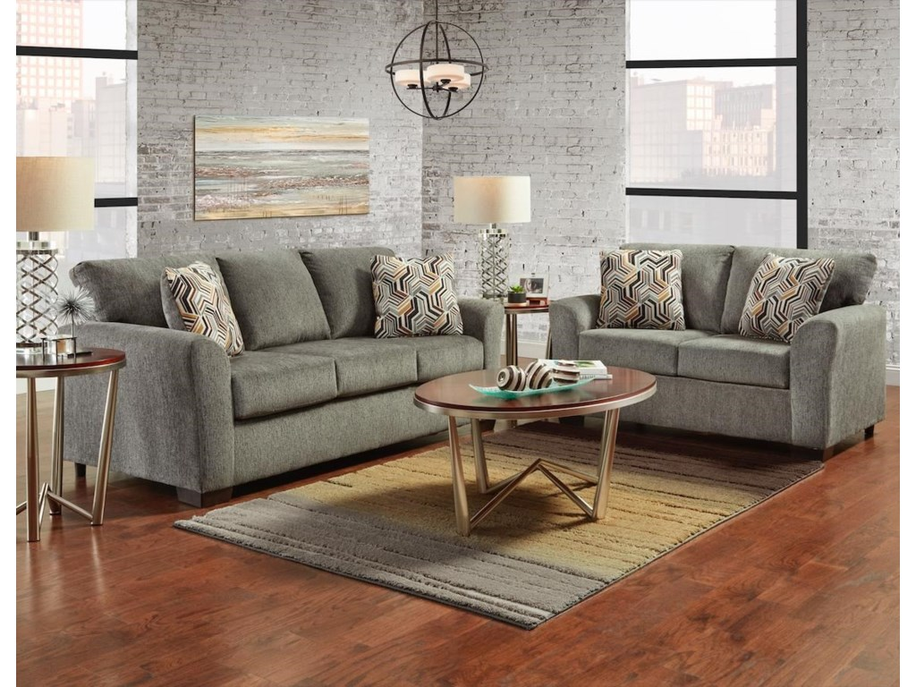 Affordable Furniture 3330Sofa and Loveseat
