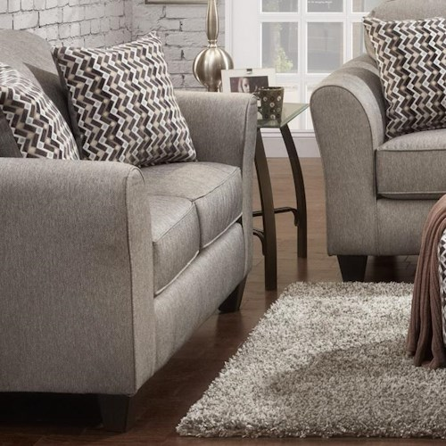 Affordable Furniture 5000 Loveseat with Flared Arms