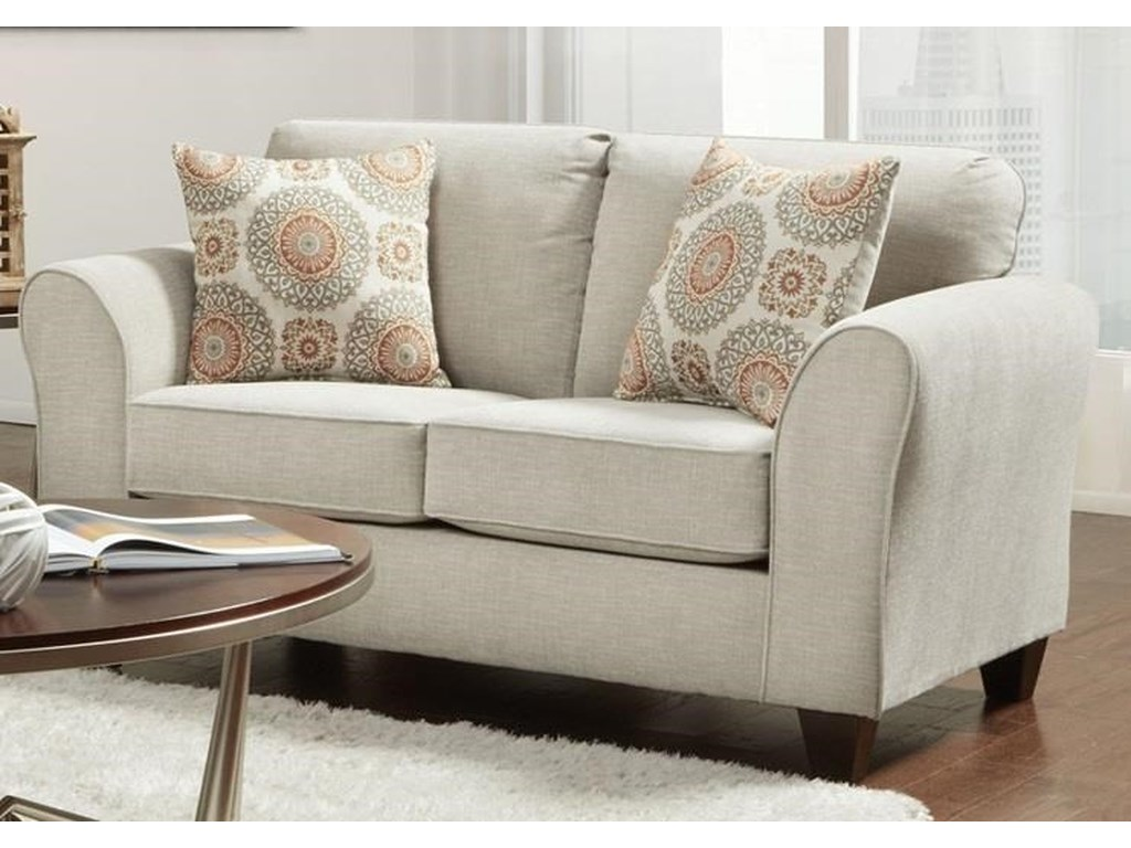 Affordable Furniture 5040 Bennington TaupeLoveseat