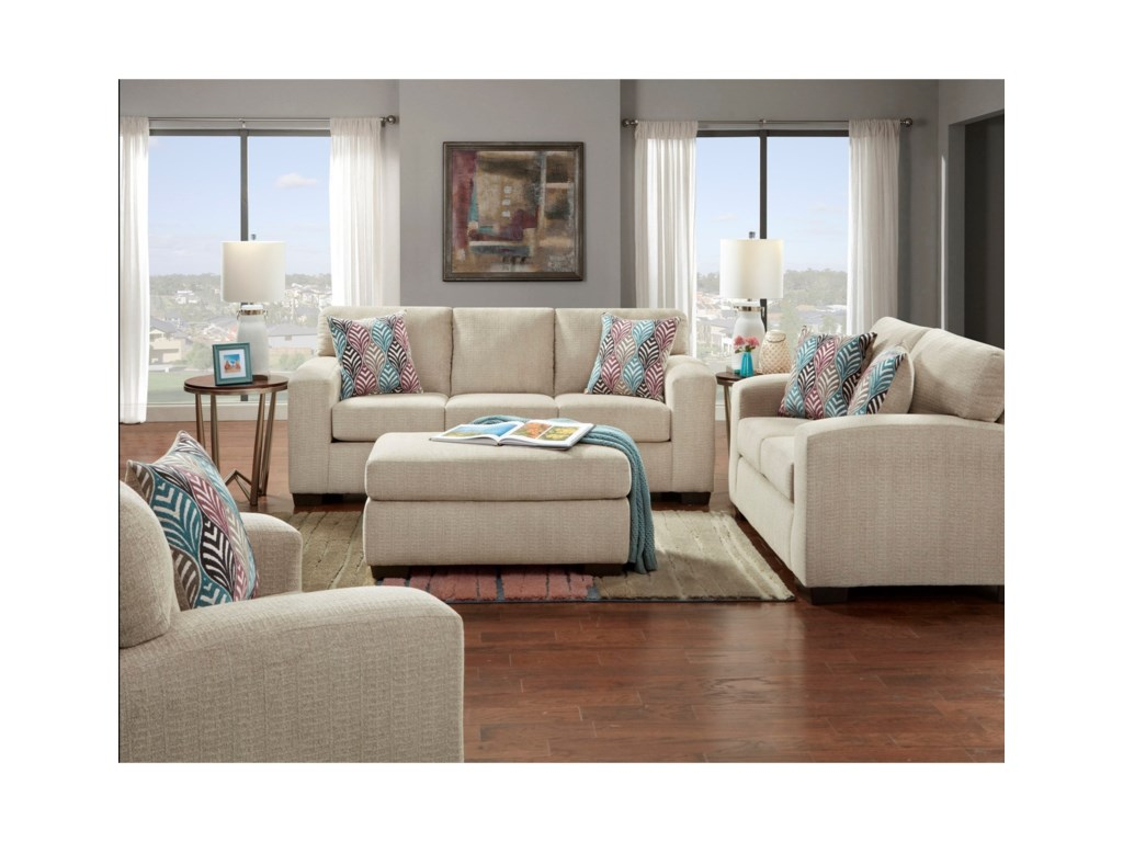 Affordable Furniture 5900Contemporary Loveseat