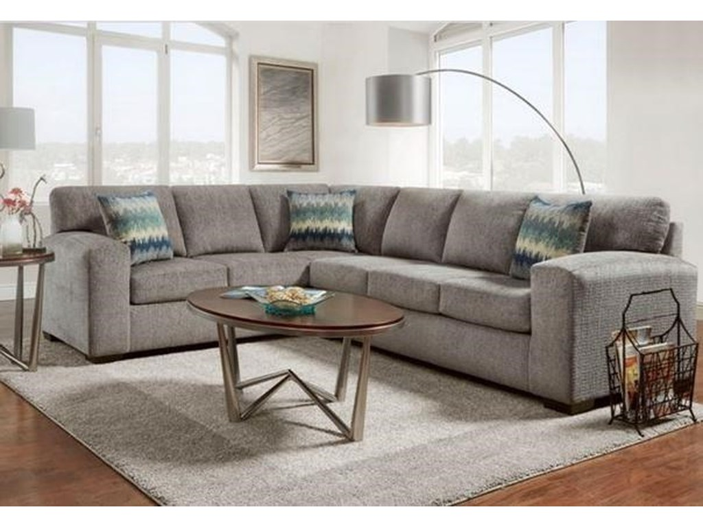 Affordable Furniture 5950silverton Pewter Sectional Sofa