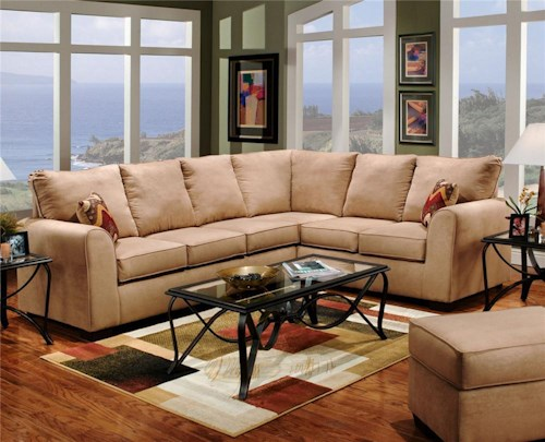 Affordable Furniture 6150 Two Piece Sectional Sofa