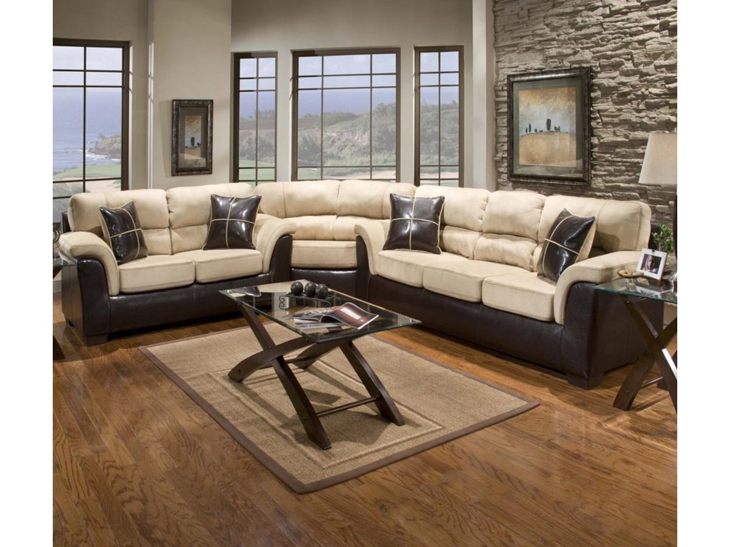 Affordable Furniture 6200Sectional with Wedge