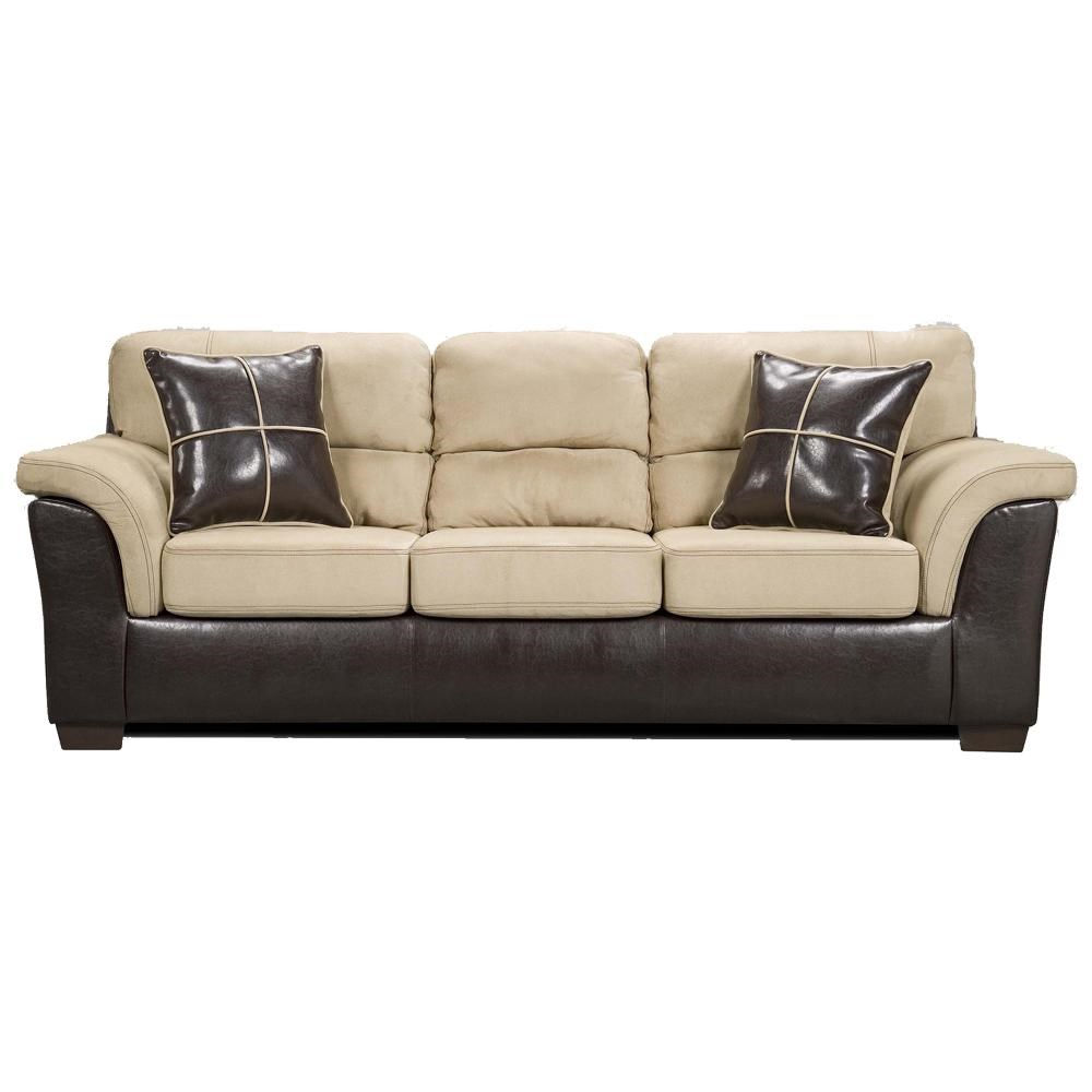 Affordable Furniture 6200 Fabric Faux Leather Sofa Colder S