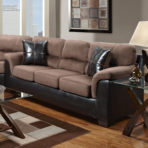 Affordable Furniture 6200 Fabric/Faux Leather Sofa