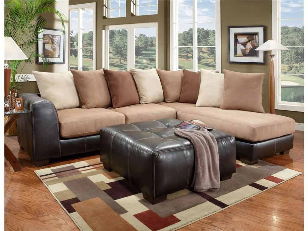 Affordable Furniture 6350Sectional and Ottoman