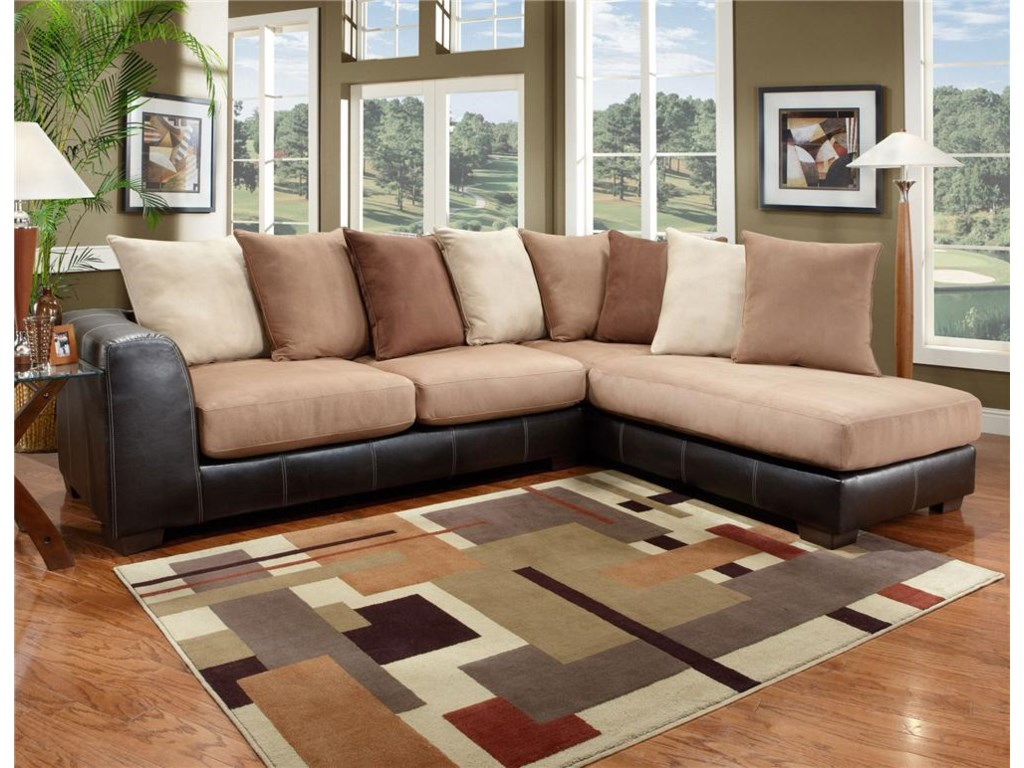 Affordable Furniture 6350Two Piece Sectional
