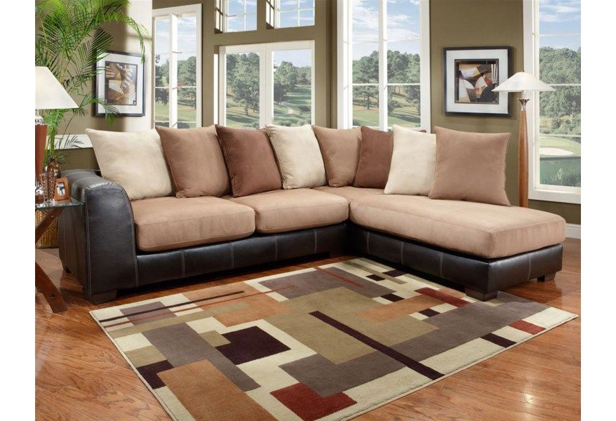 6350 Two Piece Sectional With Chaise
