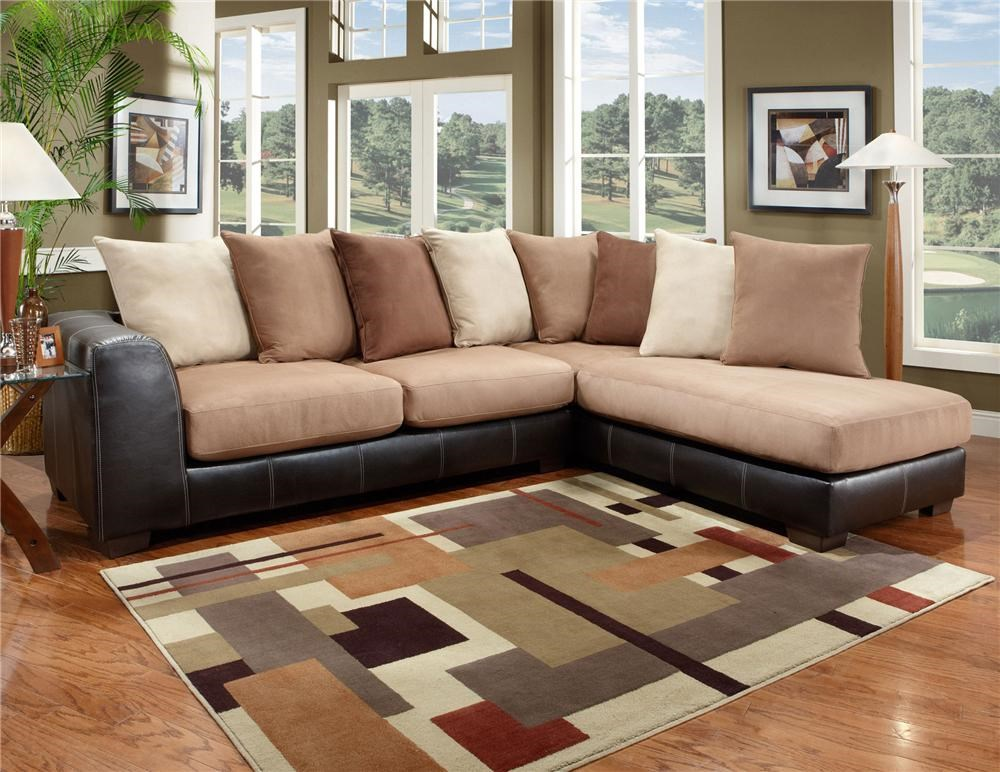 Affordable Furniture 6350 Two Piece Sectional With Chaise   Royal Furniture    Sofa Sectional Part 88