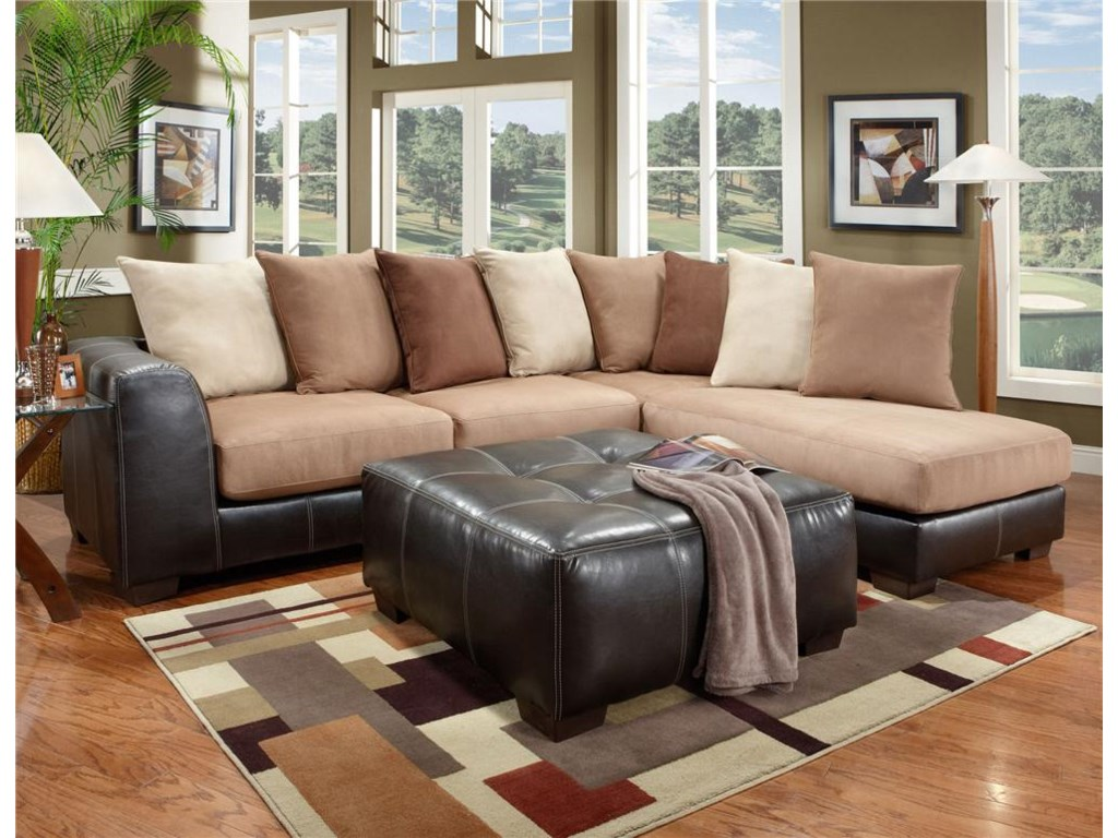 Shown in Living Room with Ottoman