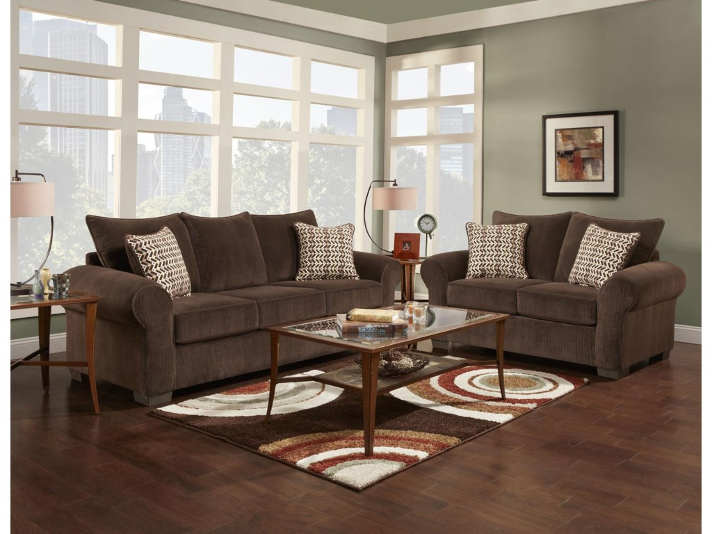 Affordable Furniture 7300Stationary Living Room Group