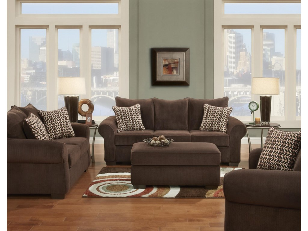 Affordable Furniture 7300Cocktail Ottoman