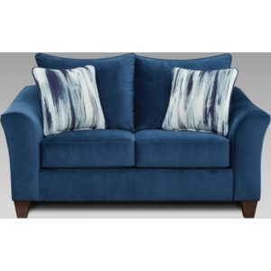 Affordable Furniture 7700 104 12258 2 Contemporary Loveseat With Flared Arms Furniture Fair North Carolina Loveseats