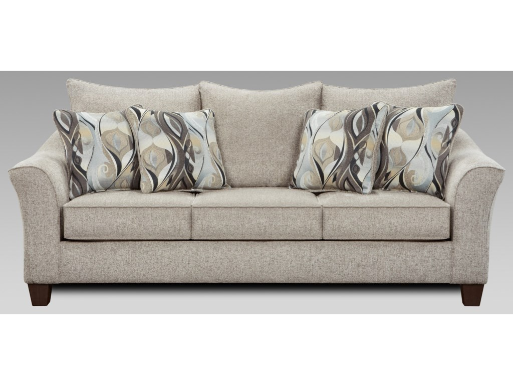 Affordable Furniture 7700Sofa with Flared Arms